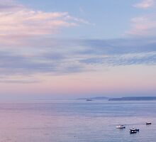 Sunset towards Godrevy by lenscraft