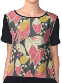 Seamless floral pattern with hand drawn leaves Chiffon Top