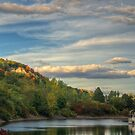 Sun on Cathedral Bluffs by Jessica Dzupina