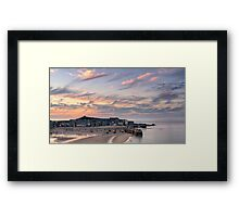 St Ives Harbour Sunset Framed Print