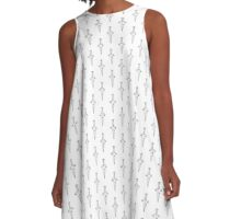 Lil' Dagger | White A-Line Dress