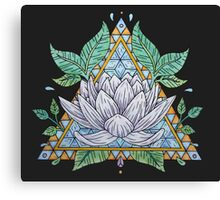 Stained Glass Lotus Illustration Canvas Print