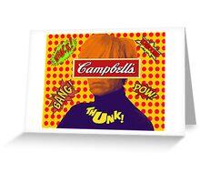 Andy Warhol Comic  Greeting Card