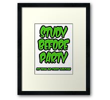 study before party Framed Print