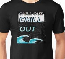 """Chill Out"" Glitch VHS Aesthetic Design Unisex T-Shirt"