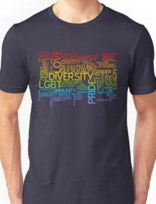 LGBT words cloud Unisex T-Shirt