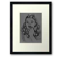DOROTHY FROM WIZARD OF OZ Framed Print