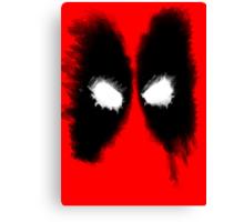 Deadpool Mask Art Canvas Print