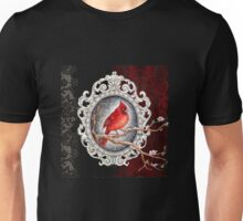 Red cardinal in lace Unisex T-Shirt