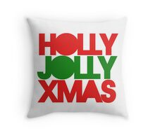 Holly Jolly XMAS Throw Pillow