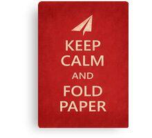 Keep Calm Paper Airplane 21a Canvas Print