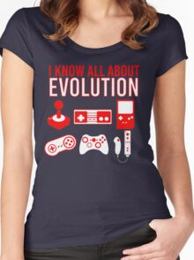 I Know All About Evolution Women's Fitted Scoop T-Shirt
