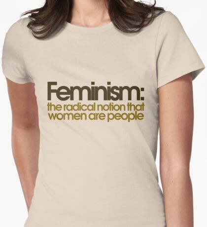Feminism defined Womens Fitted T-Shirt