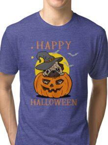 Happy Halloween For Pug Dog Lover Tri-blend T-Shirt