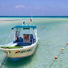 Dive Boat off Avalon (Mia) Bridge - Isla Mujeres by IntWanderer