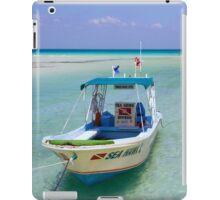 Dive Boat off Avalon (Mia) Bridge - Isla Mujeres iPad Case/Skin