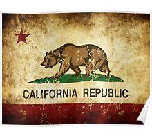 California Republic Flag Rustic  Poster