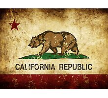 California Republic Flag Rustic  Photographic Print