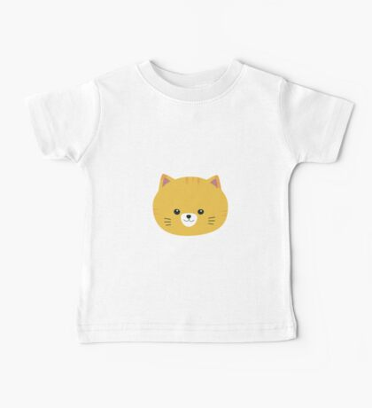 Cute tiger cat with yellow fur Baby Tee
