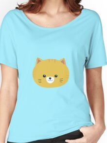 Cute tiger cat with yellow fur Women's Relaxed Fit T-Shirt