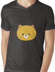 Cute tiger cat with yellow fur Mens V-Neck T-Shirt