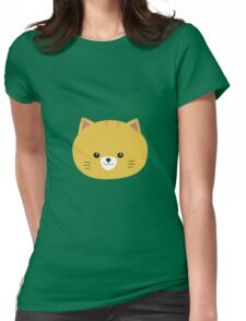 Cute tiger cat with yellow fur Womens Fitted T-Shirt