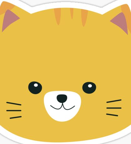 Cute tiger cat with yellow fur Sticker