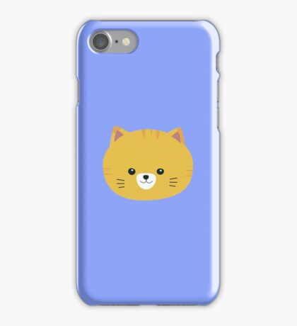 Cute tiger cat with yellow fur iPhone Case/Skin