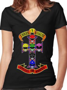 Zords N Rangers Women's Fitted V-Neck T-Shirt
