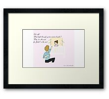 A Baby By Any Other Name Framed Print