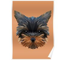 Terrier low poly. Poster