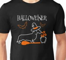 Halloweiner, Funny Halloween Gift For Dachshund Dog Lover Unisex T-Shirt