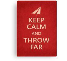 Keep Calm Paper Airplane 21c Canvas Print