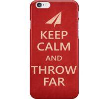 Keep Calm Paper Airplane 21c iPhone Case/Skin