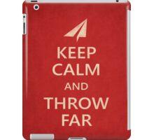 Keep Calm Paper Airplane 21c iPad Case/Skin