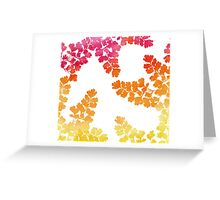 Autumn Expressions - Red Orange Yellow Watercolor Greeting Card