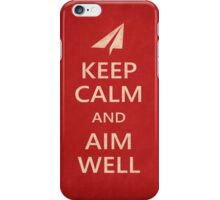 Keep Calm Paper Airplane 21d iPhone Case/Skin