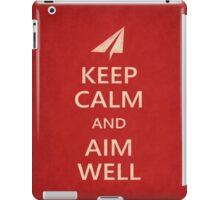 Keep Calm Paper Airplane 21d iPad Case/Skin