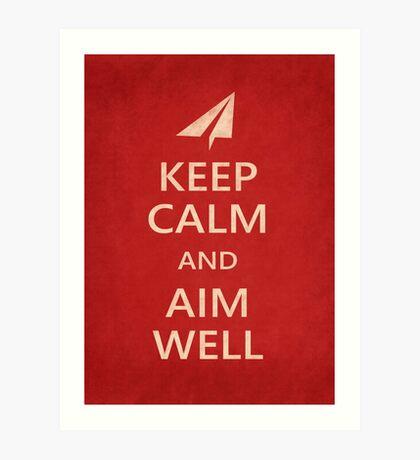 Keep Calm Paper Airplane 21d Art Print