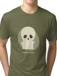 Creepy Halloween Character In Vintage Style Tri-blend T-Shirt