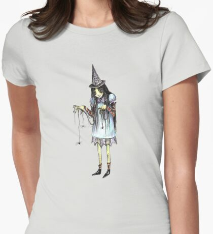 Spiders and Webs, Oh My! Womens Fitted T-Shirt