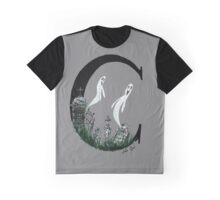 C is for Cemetery Watercolor Painting Graphic T-Shirt