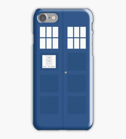 Minimal TARDIS iPhone Case/Skin