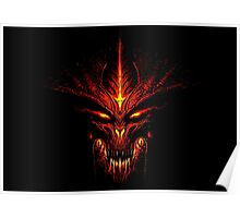 Evil Fire Dragon Design Poster