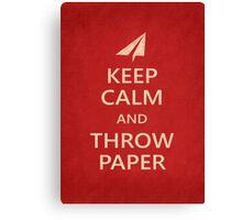 Keep Calm Paper Airplane 21e Canvas Print