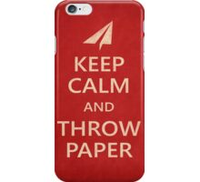 Keep Calm Paper Airplane 21e iPhone Case/Skin