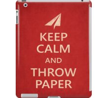 Keep Calm Paper Airplane 21e iPad Case/Skin