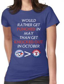 Blue Jays > Rangers Womens Fitted T-Shirt