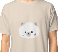 Cute white kitty with gray ears Classic T-Shirt