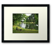 Lovely Langley Lake Framed Print